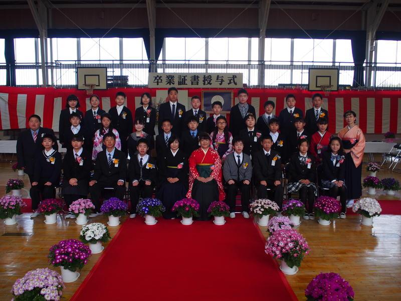 卒業式を全員笑顔で迎えることができました!